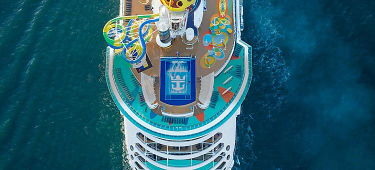 Independence of the Seas, Aerial View
