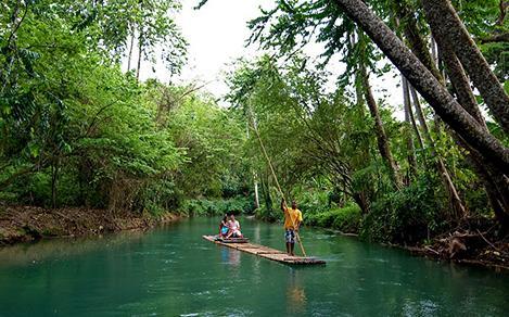 rafting, romantic, Jamaica, Montego Bay, shore excursion,