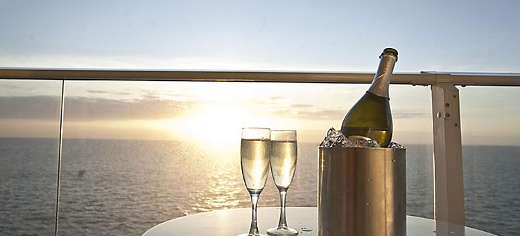 Stateroom,Suite, Balcony, Sunset, Martini,champagne glasses  Wine,Drink, 2011 Brand Campaign Details, Oasis of the seas,
