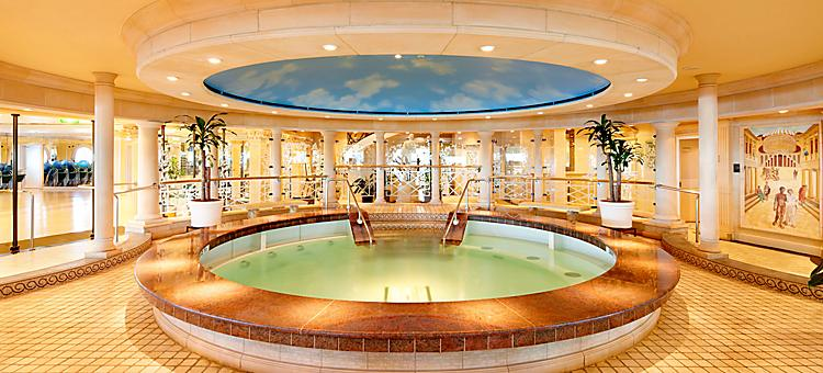 Vitality Spa indoor pool onboard a Royal Caribbean cruise ship.