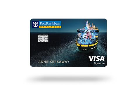 royal caribbean visa signature credit card front
