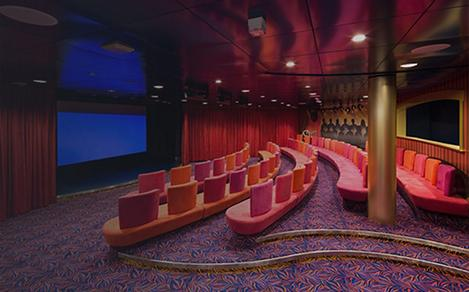 The Adventure Ocean Theater for kids and teens to watch movies onboard a cruise.