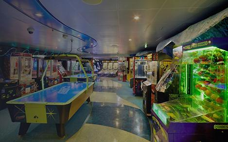 The Arcade for kids and teens is one of the top things to do for children on a cruise.