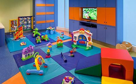 Play area for babies and tots part of the Royal Babies program.