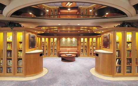 Library onboard Royal Caribbean's family-friendly cruises.