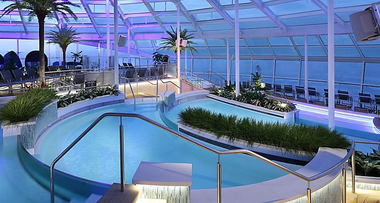 QN, Quantum of the Seas, Solarium, pool, poolside, onboard activities, relaxation, relaxing