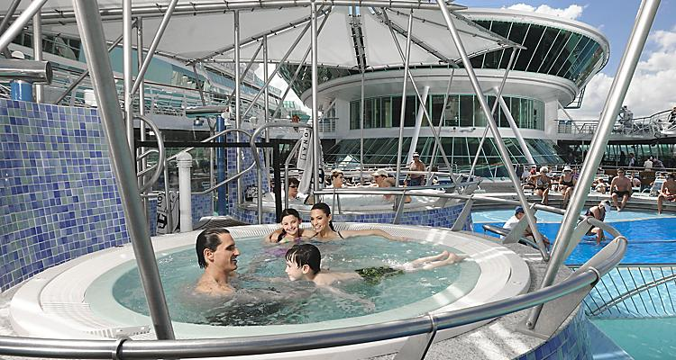 GR, Grandeur, Grandeur of the Seas?, Family, Children, Jacuzzi, sky, open deck, blue sky, relaxing