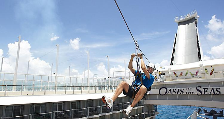Oasis of the Seas, zip line, Sports Zone, Zip line, Aqua, Theater, balcony, staterooms, Activities, Sport, senior, Oasis of the Seas, OA, Oasis Class