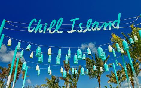 perfect day coco cay chill island sign