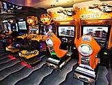Royal Caribbean introduces its newest and most technologically advanced cruise ship Anthem of the Seas.   Challengers Arcade., Royal Caribbean introduces its newest and most technologically advanced cruise ship Anthem of the Seas.   Challengers Arcade.