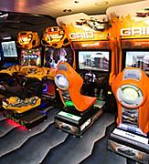 Royal Caribbean introduces its newest and most technologically advanced cruise ship Anthem of the Seas.   Challengers Arcade.