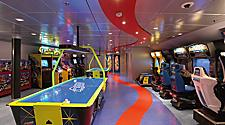 empty Arcade, video games, air hockey. Radiance Class, JW, , Jewel of the Seas