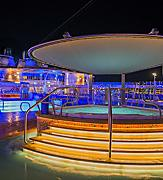 whirlpools water pool deck night activity