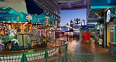 Interiors, Allure, Allure of the Seas,Boardwalk, Carousel,