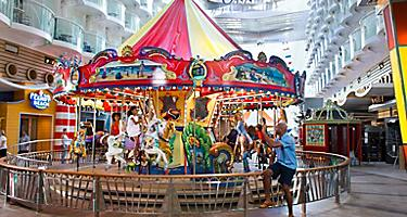 Dad Waving at his Kids on the Carousel