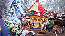 Oasis class, oasis of the seas, carousel, boardwalk, neighborhoods,allure of the seas,family,