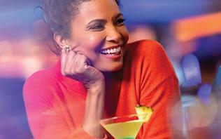 Woman Enjoying Cocktails