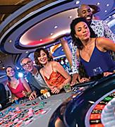 Navigator of the Seas Couples Playing Roulette Gambling Casino