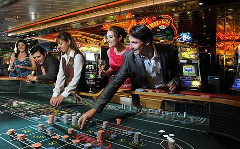 Guests Playing the Roulette