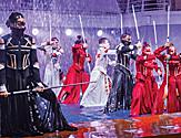Hiro Performers During an Action Scene in the Aqua Theatre