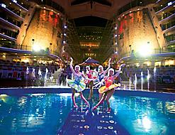 Performers On Stage During The Oasis Of Seas Cruise Show By Royal Caribbean