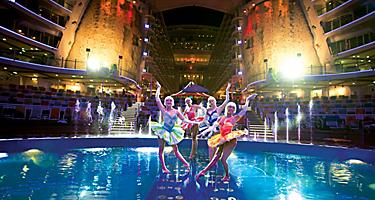 Performers on Stage during the Oasis of the Seas Cruise Show by Royal Caribbean
