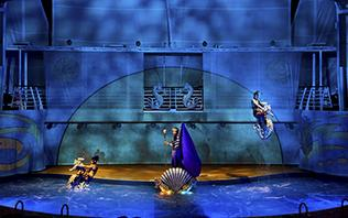 Oceanaria Cruise Show Performers on Stage Adventure of the Seas