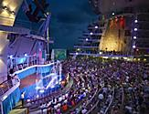 Performers and audience during the Splish Splash Cruise Show Performance