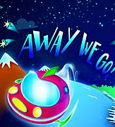 Colorful Fantasy Land depicted in poster for the Away We Go Cruise Show by Royal Caribbean