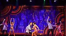 Dancers on stage during Rhythm and Rhyme Cruise Show on Grandeur of the Seas