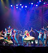Harmony of the Seas US inaugurals. Columbus The Musical in the Royal Theatre.