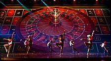 Performers on Stage during the Jackpot Cruise Show on Adventure of the Seas