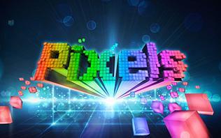 Pixels Original Production Show Logo Rainbow Colors