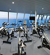 AN, Anthem of the Seas, public rooms, Spin Class, exercise, health & fitness, onboard activities, gym, athletic equipment, stationary bicycles, ocean view,