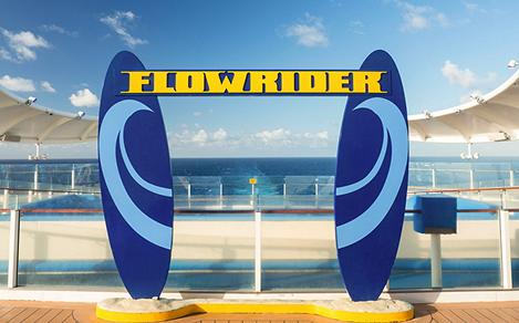 Flowrider Signage on Explorer of the Seas on a Sunny Day
