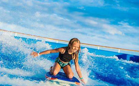 Young Girl Riding Flowrider