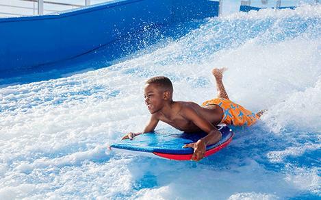Flowrider Boy Body Surfing
