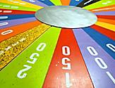 Colorful Wheel at the Game Show