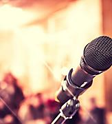 guest entertainer microphone stage