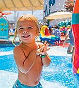 Young Boy Testing the Water at the H20 Zone Water Park