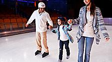 Family Enjoying the Onboard Ice Skating Rink