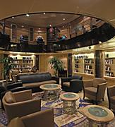 empty onboard Library with books, Explorer of the Seas, Voyager Class, ex, lounge, public rooms