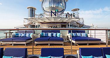 QN, North Star, deck chairs, lounges, upper deck,