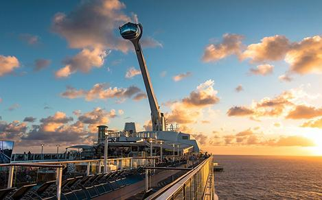 Ovation of the Seas North Star Sunset