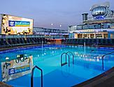 QN, Quantum of the Seas, Pool Deck, pool, poolside, Sky Bar, outdoor movie screen, North Star, relaxation, relax