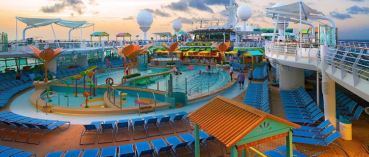Navigator of the Seas Pool Deck at Sunset