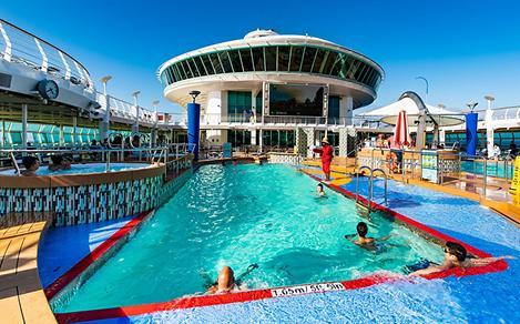 Kids Racing in the Pool on Explorer of the Seas