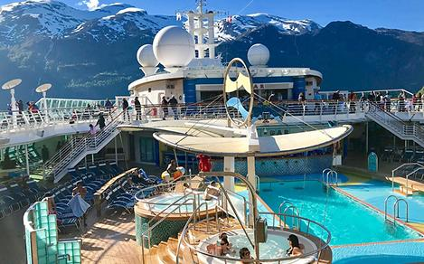 serenade of the seas pool alaska background