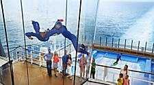 Guests Watching a Man Enjoying the iFly