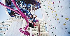 Harmony, Girl Coming Off Rock Climbing Wall